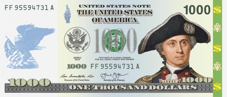 $1000 Jones Front #1 New