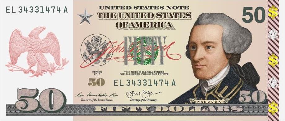 $50 Hancock Front #1 New